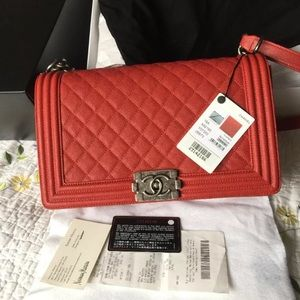 Chanel Medium Le Boy Red